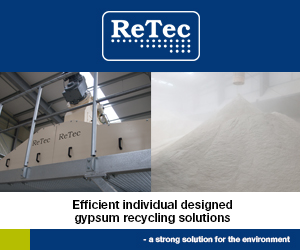 ReTec - Efficient individual designed gypsum recycling solutions - a strong solution for the environment