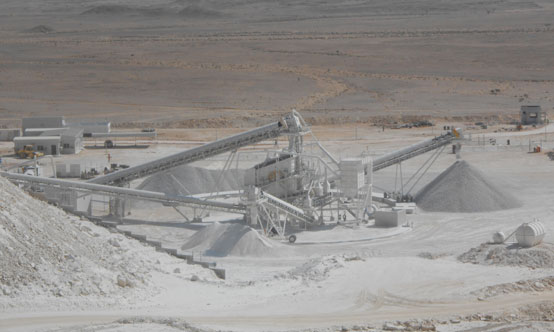 The USG Zawawi Gypsum mine has been in operation since 2014.