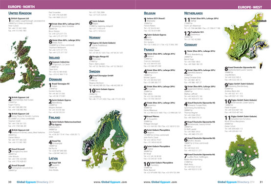 Global Gypsum Directory 2014 examples pages